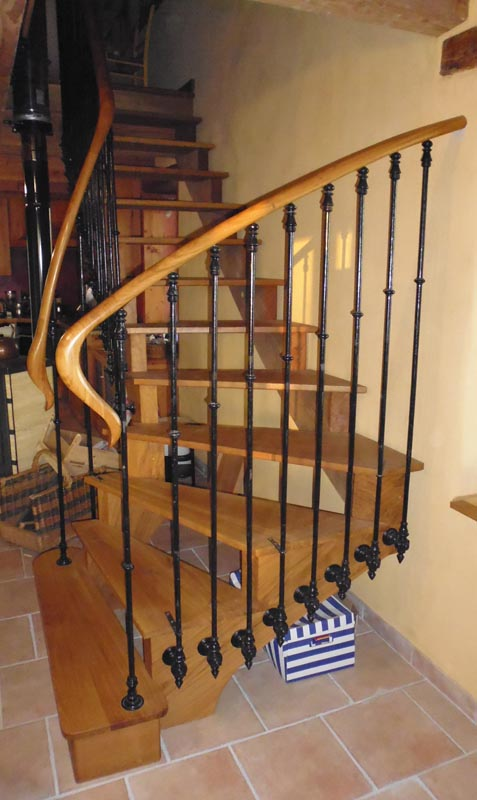 escalier ch ne l anglaise bruno tradition. Black Bedroom Furniture Sets. Home Design Ideas